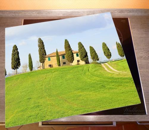 Herdabdeckplatte Villa auf einem Hügel in der Toskana – Bild 2