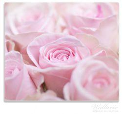 Herdabdeckplatte Rosafarbene Rosenblüten im Strauß – Bild 1