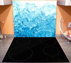 Herdabdeckplatte Leuchtendes Eis in blau – Bild 3