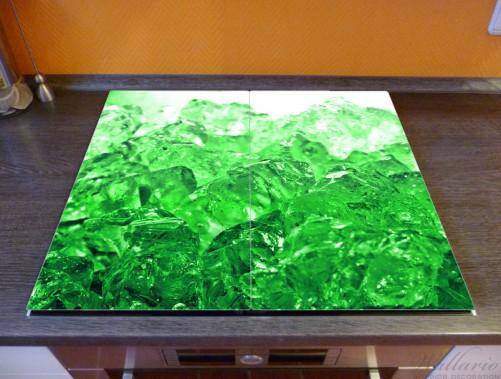 Herdabdeckplatte Leuchtendes Eis in grün – Bild 2