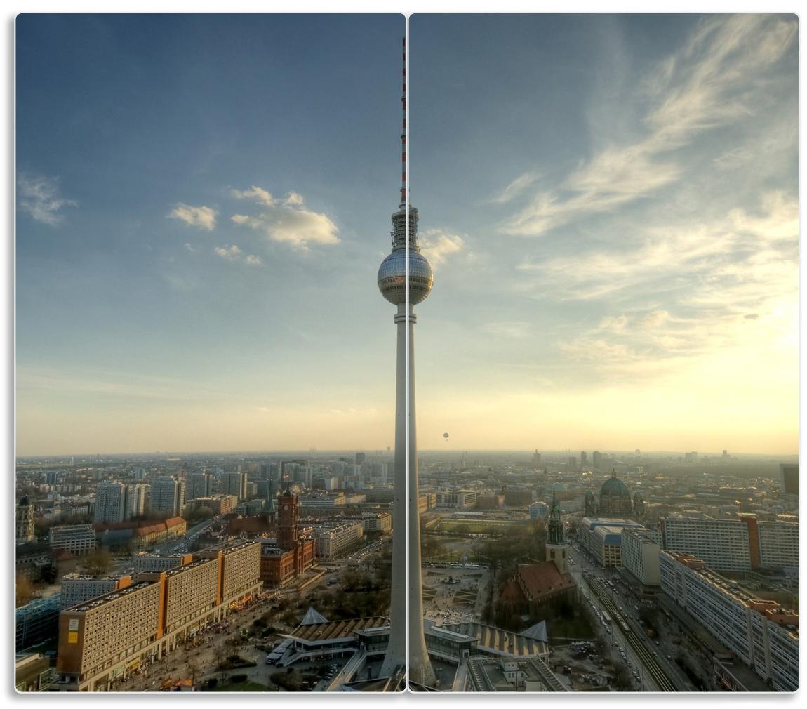 Herdabdeckplatte Fernsehturm Berlin mit Panoramablick über die Stadt – Bild 1