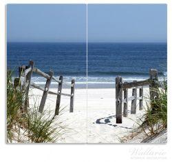 Herdabdeckplatte Blick auf Strand – Bild 1