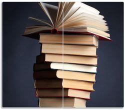Herdabdeckplatte Bücherstapel – Bild 1