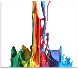 Herdabdeckplatte Farbklecks von links - Bunte Farben auf Abwegen – Bild 1