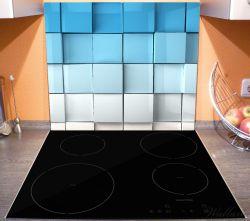 Herdabdeckplatte Blau-weiße Kisten, Schachteln, Muster – Bild 3