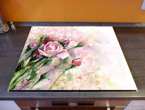 Herdabdeckplatte Abstraktes Blumenbuket – Bild 2