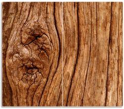 Herdabdeckplatte Holzstamm mit Asteinschluss – Bild 1