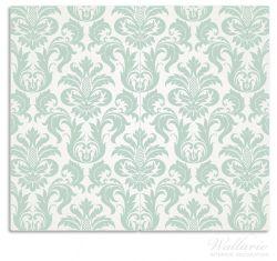 Herdabdeckplatte Königliche Schnörkelei in weiß und grün – Bild 1