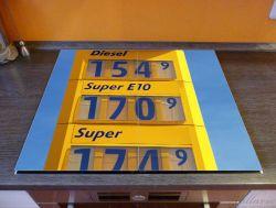 Herdabdeckplatte Benzinpreistafel – Bild 2