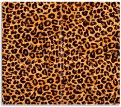 Herdabdeckplatte Leopardenmuster  in orange schwarz – Bild 1