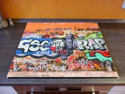 Herdabdeckplatte RAP-Graffiti- Wand mit verschiedenen Tags – Bild 2