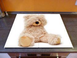 Herdabdeckplatte Süßer Teddybär – Bild 2