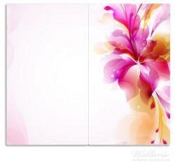 Herdabdeckplatte Pinkes Blumenbuket – Bild 1