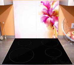 Herdabdeckplatte Pinkes Blumenbuket – Bild 3