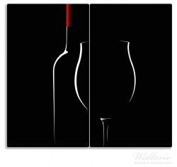 Herdabdeckplatte Rotwein bei Nacht – Bild 1