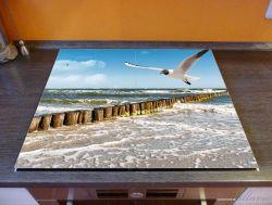 Herdabdeckplatte Fliegende Möwe am Strand – Bild 2