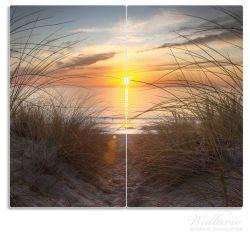 Herdabdeckplatte Sonnenuntergang am Strand – Bild 1