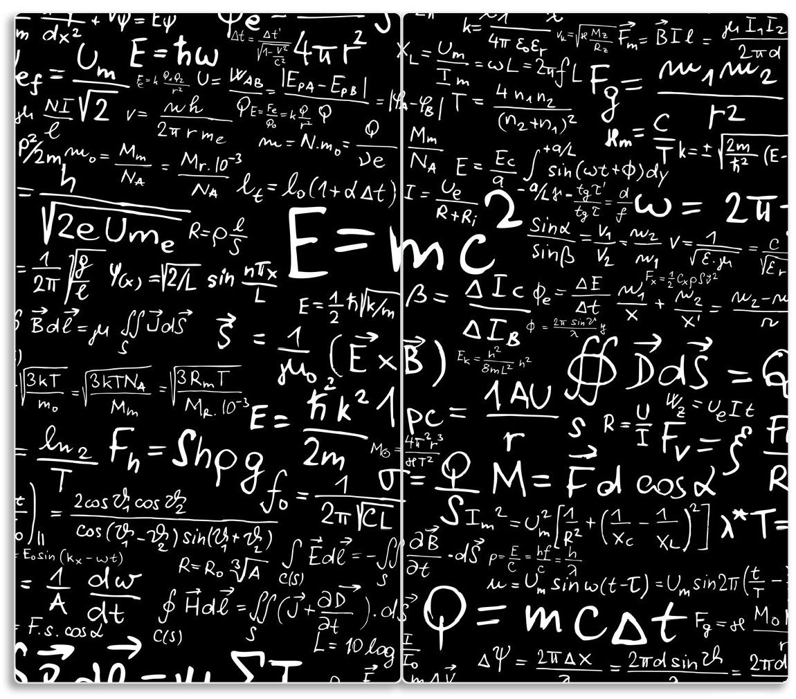 Herdabdeckplatte Mathematische Formeln – Relativitätstheorie – Bild 1