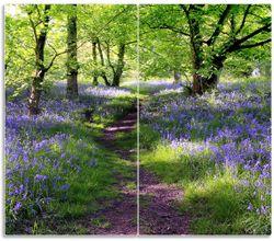 Herdabdeckplatte Blaues Hasenglöckchen im Wald – Bild 1