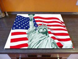 Herdabdeckplatte Freiheitsstatue USA – Bild 2