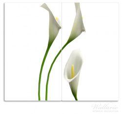 Herdabdeckplatte Callas weiß gelb – Bild 1