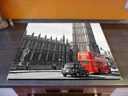 Herdabdeckplatte London Red Bus – Bild 2
