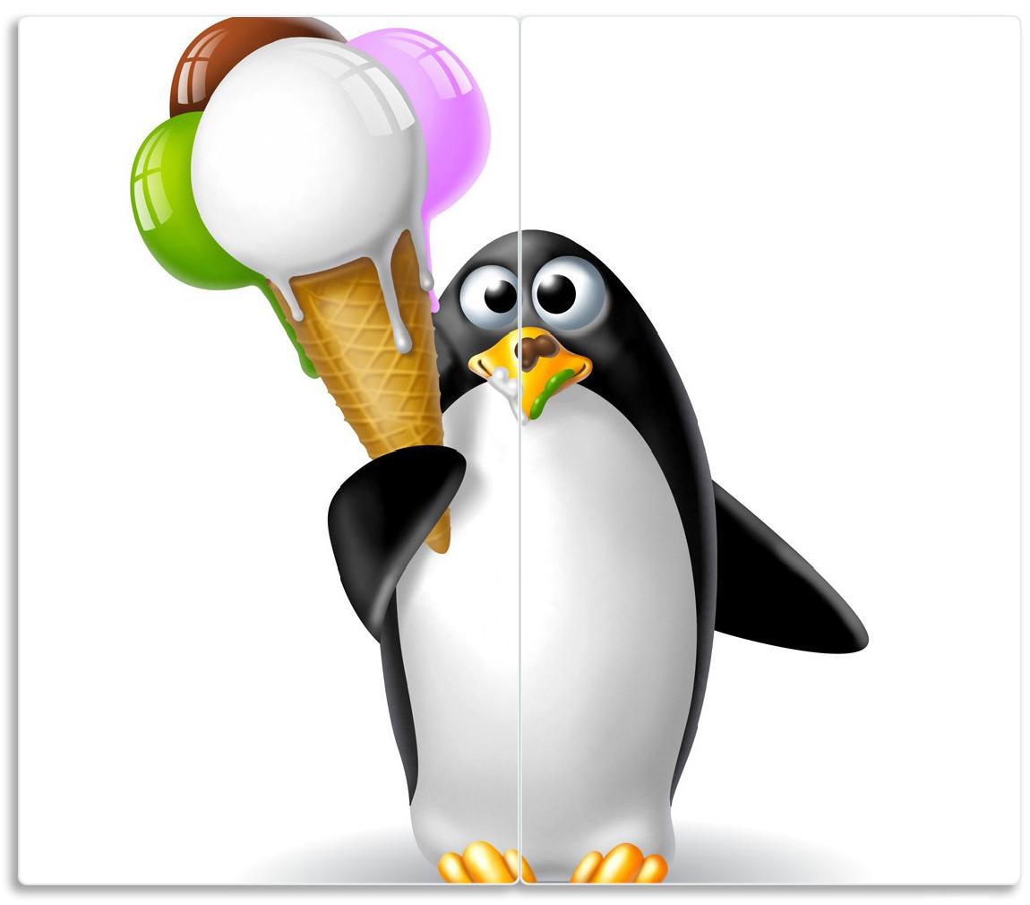 Herdabdeckplatte Süßer Eis Pinguin – Bild 1