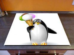 Herdabdeckplatte Süßer Eis Pinguin – Bild 2