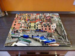 Herdabdeckplatte Bunter Hafen in Italien – Bild 2