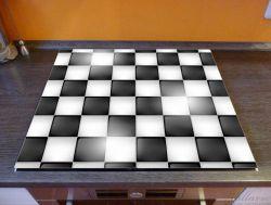 Herdabdeckplatte Schachbrett Muster – Bild 2