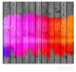 Herdabdeckplatte Holzpaneel - Bemaltes buntes Holz – Bild 1