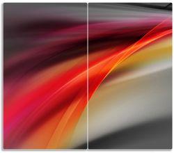 Herdabdeckplatte Schwarz rot pink - Abstraktes Design – Bild 1