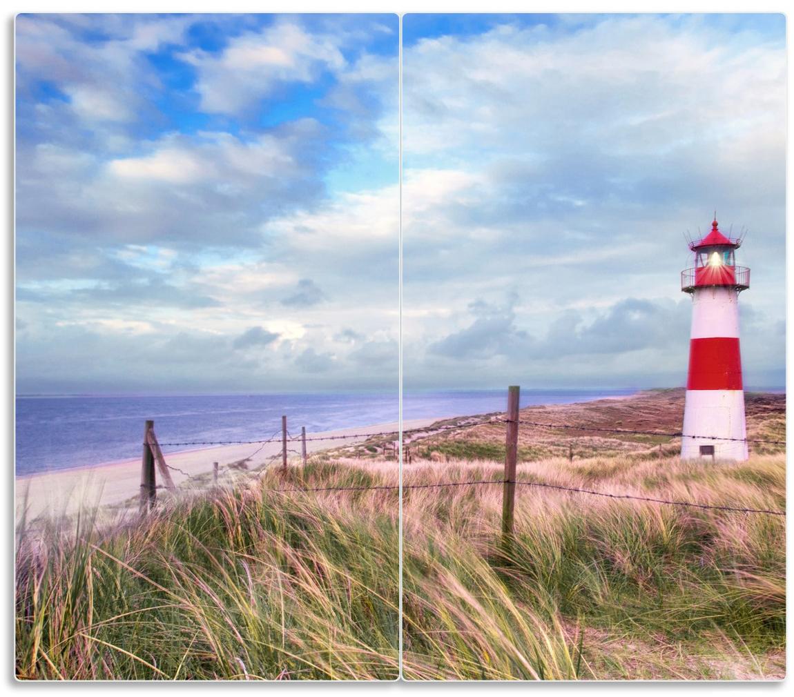 Herdabdeckplatte Leuchtturm am Strand von Sylt – Bild 1