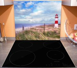 Herdabdeckplatte Leuchtturm am Strand von Sylt – Bild 3