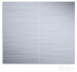 Herdabdeckplatte Aluminium-Optik Metall-Optik Streifen – Bild 1