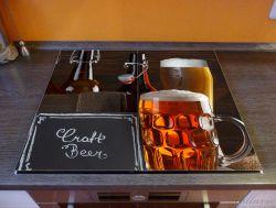 Herdabdeckplatte Biervarianten - Pils im Glas  Flaschenbier  Schild Craft Beer – Bild 2