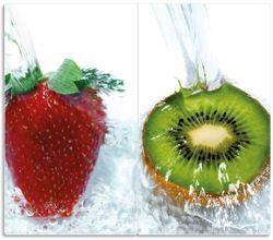 Herdabdeckplatte Frische Früchte übergossen mit Wasser II – Bild 1