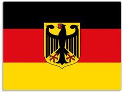 Glasunterlage Deutsche Flagge mit Wappen – Bild 1