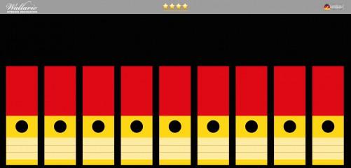 Ordnerrücken Sticker Deutsche Flagge