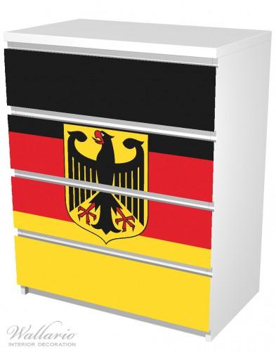 Möbelfolie Deutsche Flagge mit Wappen – Bild 5