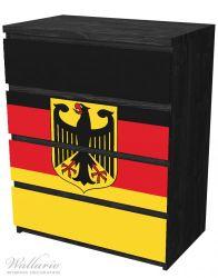 Möbelfolie Deutsche Flagge mit Wappen – Bild 4