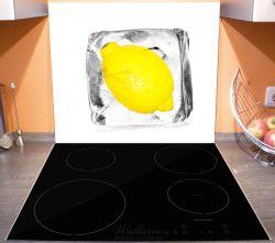Herdabdeckplatte Zitrone in Eiswürfel - Eiskaltes Obst – Bild 3