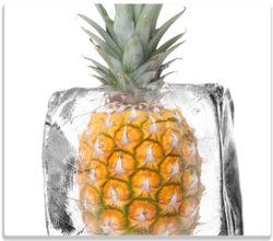 Herdabdeckplatte Ananas in Eiswürfel - Eiskaltes Obst – Bild 1