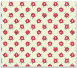 Herdabdeckplatte Muster mit Blüten und Blättern – Bild 1