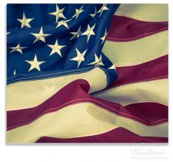 Herdabdeckplatte Amerikanische Flagge im Wind – Bild 1