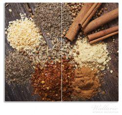 Herdabdeckplatte Aromatische trockene Gewürze in der Küche – Bild 1