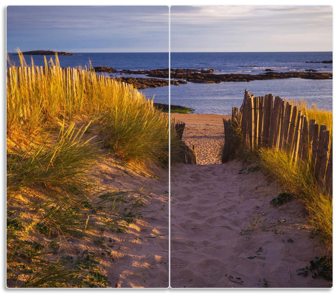 Herdabdeckplatte Weg durch die Dünen zum Meer an der Küste – Bild 1