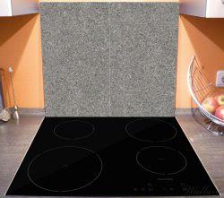 Herdabdeckplatte Muster grauer Marmor Optik -Granit - marmoriert – Bild 3
