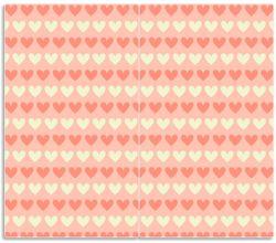 Herdabdeckplatte Muster Herzen in beige und rot  – Bild 1