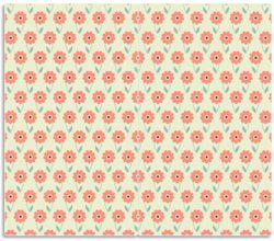 Herdabdeckplatte Muster mit roten Blumen und grünen Blättern – Bild 1